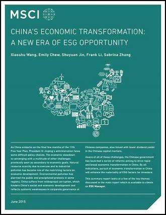 Chinas Economic Transformation - A New Era of ESG Opportunity